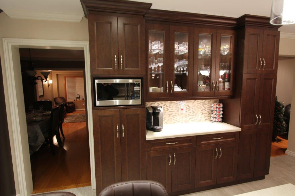 Dark Wood Kitchen